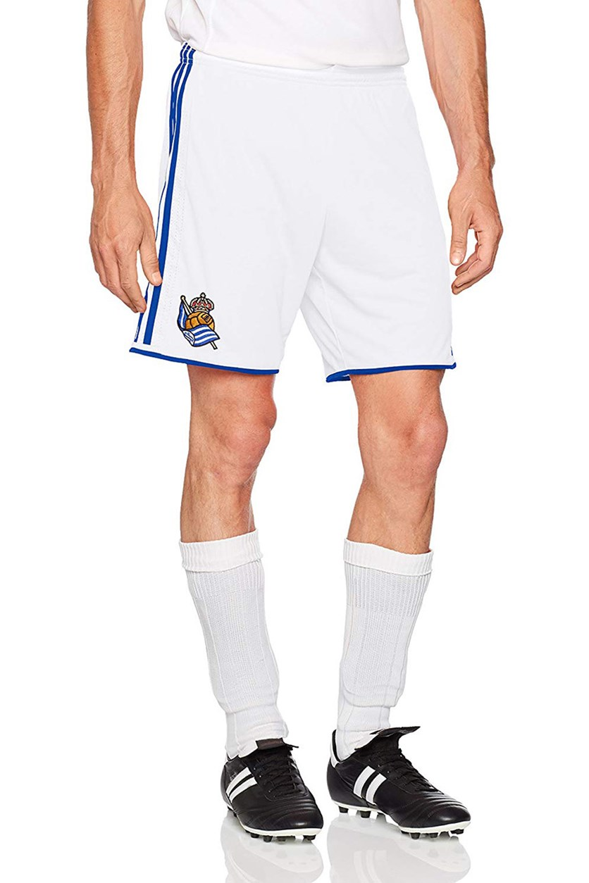 Real Sociedad FC Men's Shorts, White/Blue