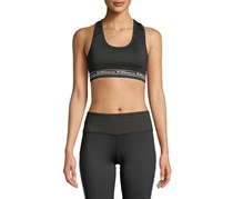 BCBGeneration Women's Logo Sports Bra, Black
