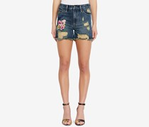 Buffalo David Bitton Cotton Ripped Denim Shorts, Tropic Blue