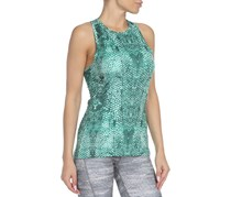 Adidas Women's Speed Print Tank Top, Green