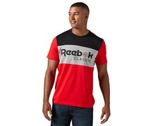 Reebok Men's Classic T-Shirt, Grey/Red/Black