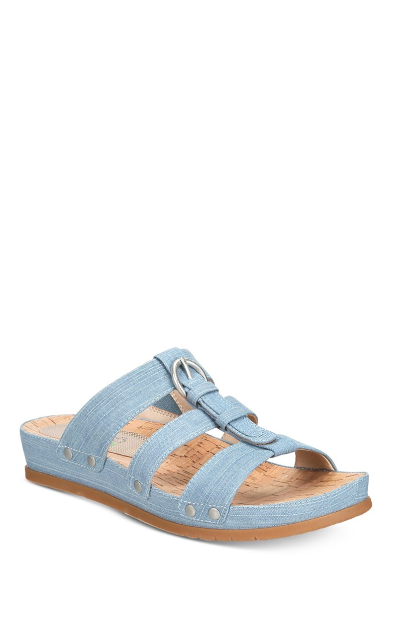 Women's Cella Slip-On Sandals, Washed Denim