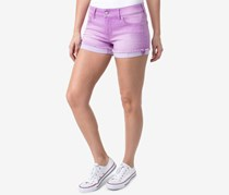 Celebrity Pink Juniors' Colored Denim Shorts, Purple