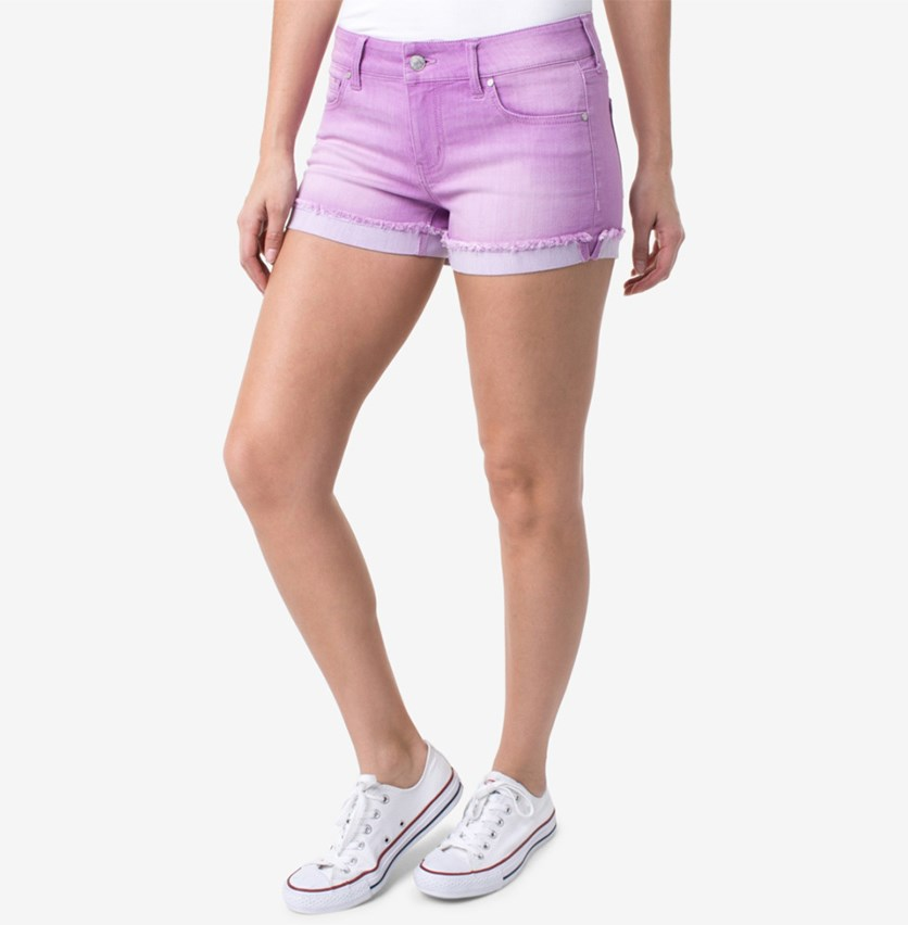 Juniors' Colored Denim Shorts, Purple