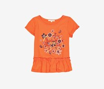 Copper Key Girl's Graphic Print Tee, Orange