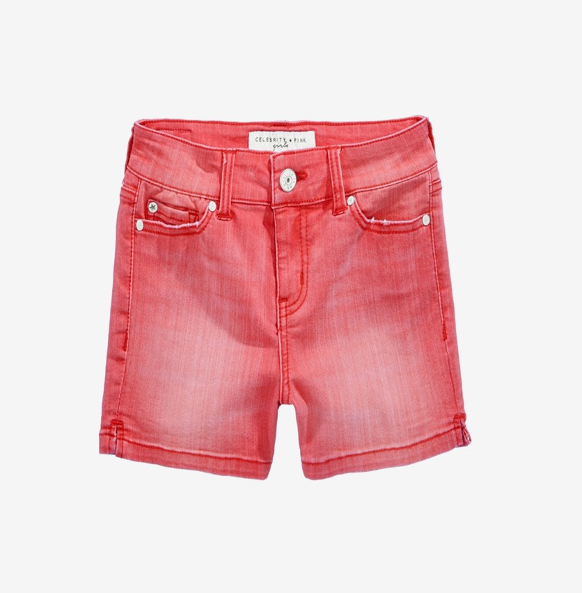 Colored Denim Shorts, Tea Berry Dak