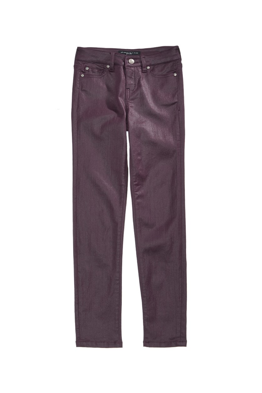 Coated Skinny Jeans, Potent Purple