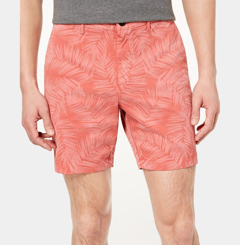 Mens Classic-Fit Stretch Short, Faded Coral