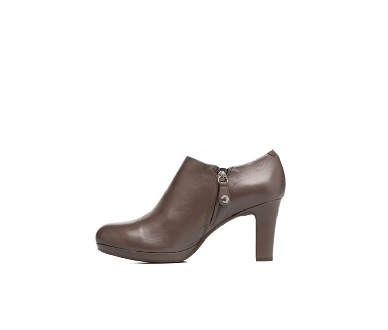 Women's High Heel Boots, Chestnut
