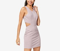 Speechless Juniors Cutout Glitter-Detail Dress,  Mauve