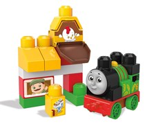 Mega Bloks Thomas & Friends Sights of Sodor Percy At The Farm Train Bag, Blue/Orange/Red/Green