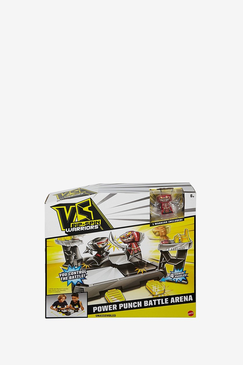 Vs Rip Spin Warriors Power Punch Battle Arena Set, Red/Yellow