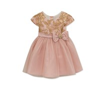 Rare Editions Embroidered Sequin Dress, Blush
