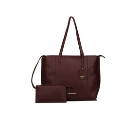 Ellen Tracy Women's Cosimo Tote, Burgundy/Purple