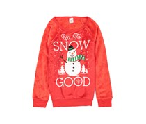Cold Crush Up to Snow Good Print Woobie Top, Red