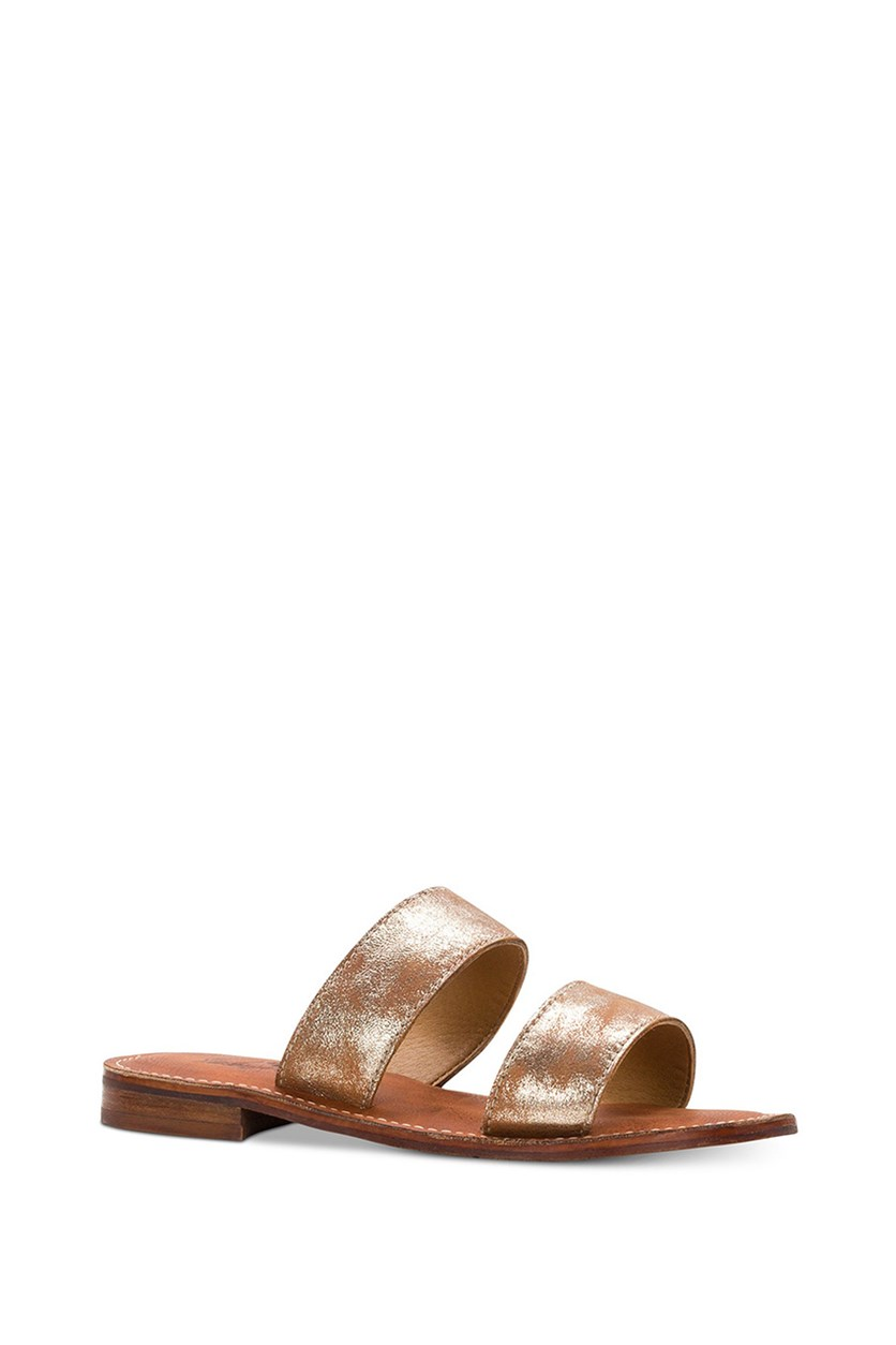 Women's Flair Flat Sandals, Gold/Brown