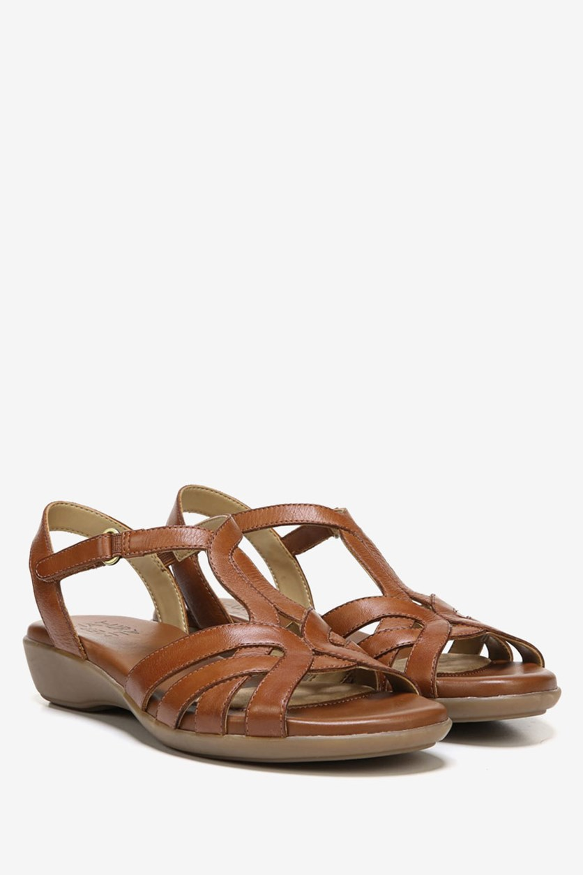 Nella Wedge Sandals, Tan