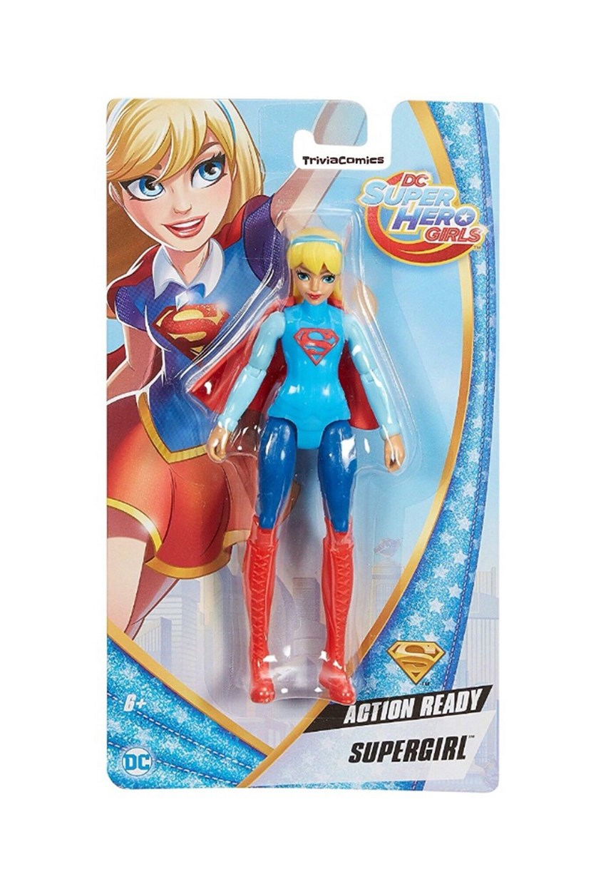 Super Hero Girls Action Supergirl Doll, Red/Blue Combo