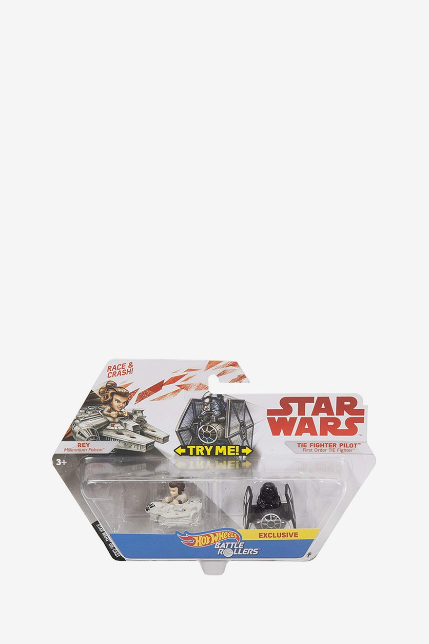 Star Wars Battle Rollers Rey Vs Tie Fighter Pilot, Grey/Black