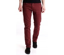 Adidas Men's Slim Fit Jeans, Maroon