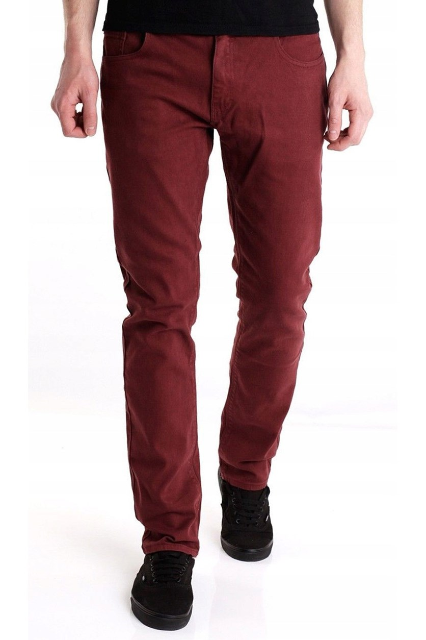 Men's Slim Fit Jeans, Maroon