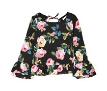 GB girls Girl Floral Top, Black Combo