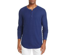 Goodlife Long Sleeve Double-Layer Henley Top, Navy