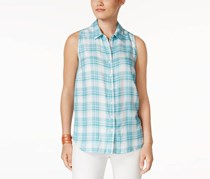 G.h. Bass & Co. Plaid Shirt, Blue/White