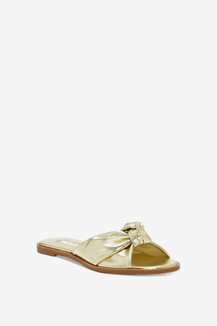 International Concepts Guyen Knot Slide Sandals, Light Gold