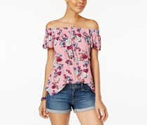 Hippie Rose Women's Off-The-Shoulder Top, Rose