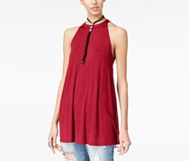 Hippie Rose Juniors Sleeveless Swing Tunic, Salsa Red