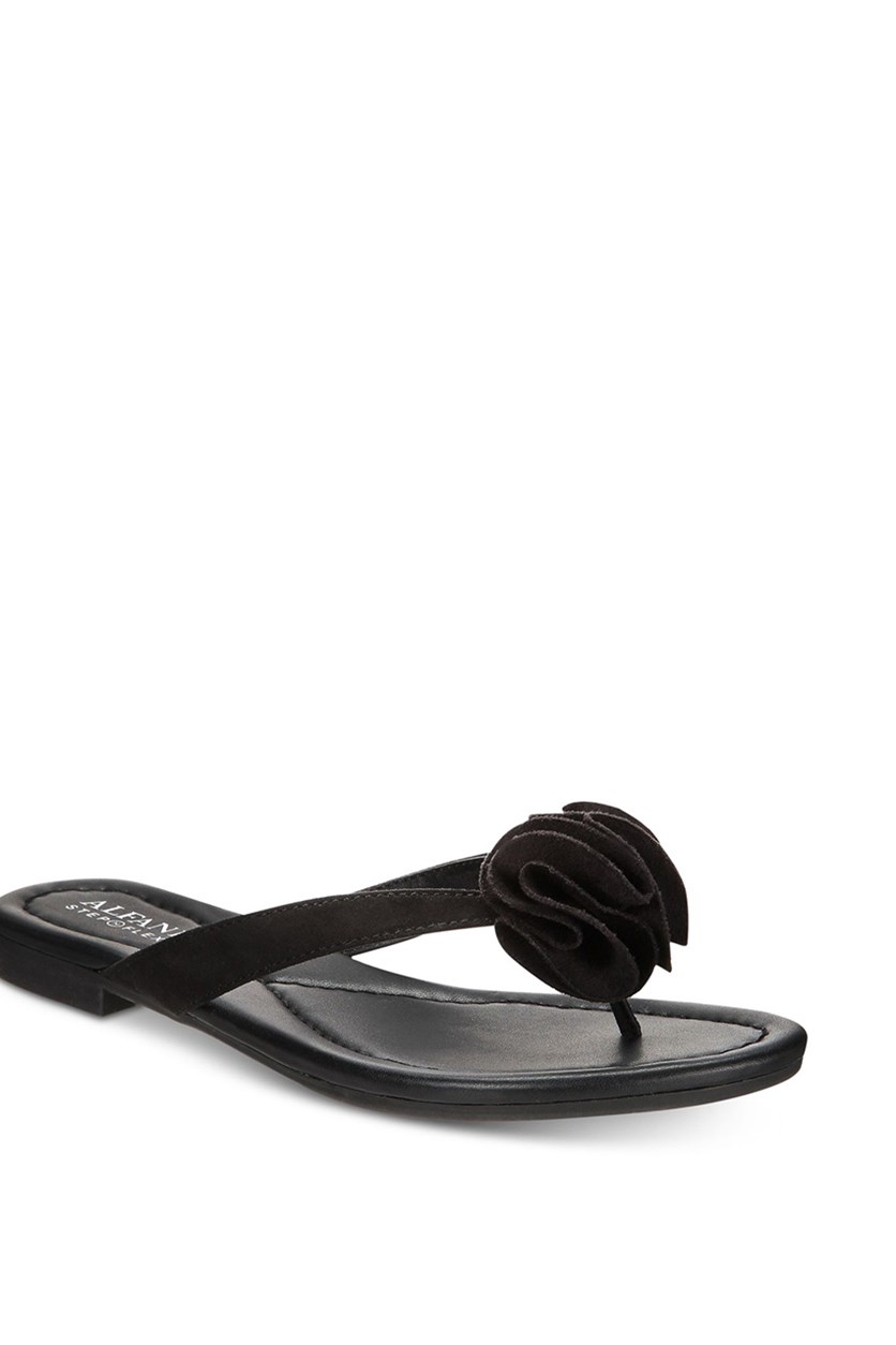 Women's Heathh Step 'N Flex Flip Flops,  Black