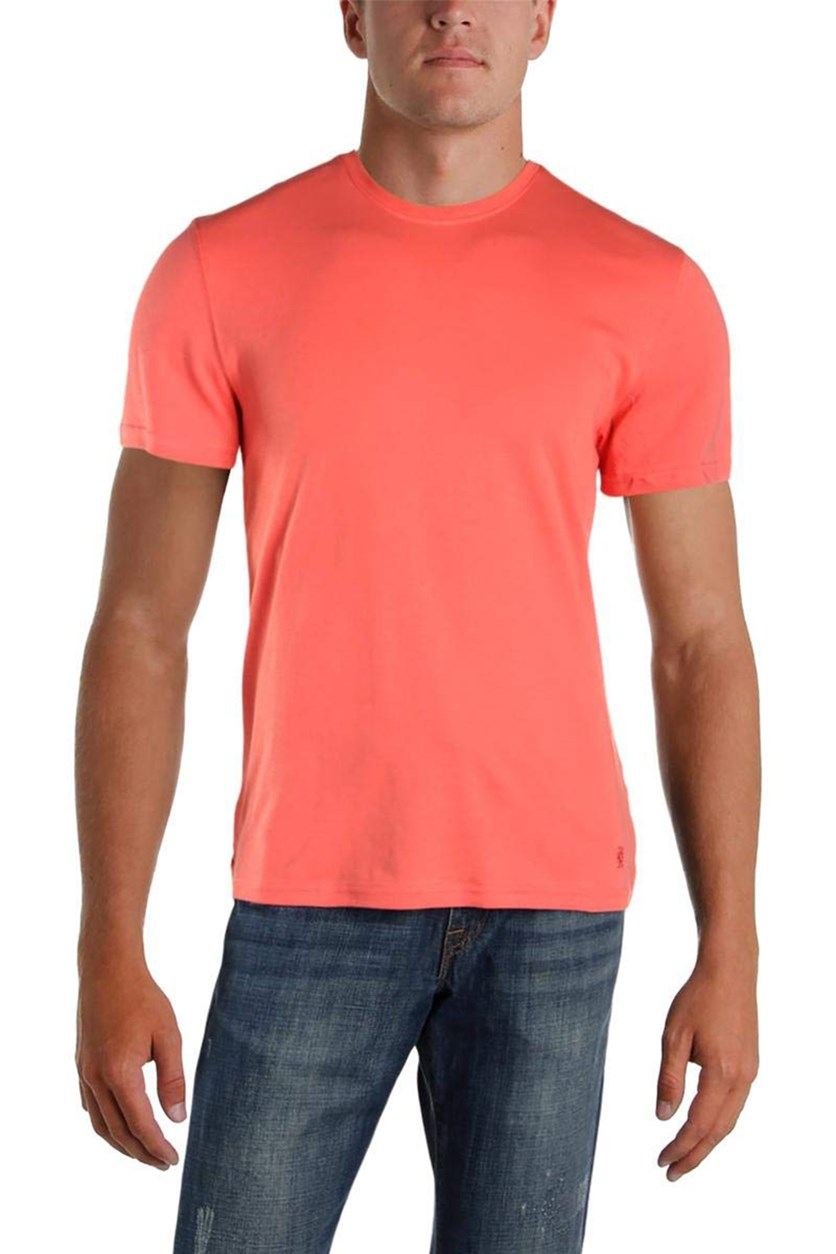 Mens Cotton Crew Neck T-Shirt, Coral Sunset
