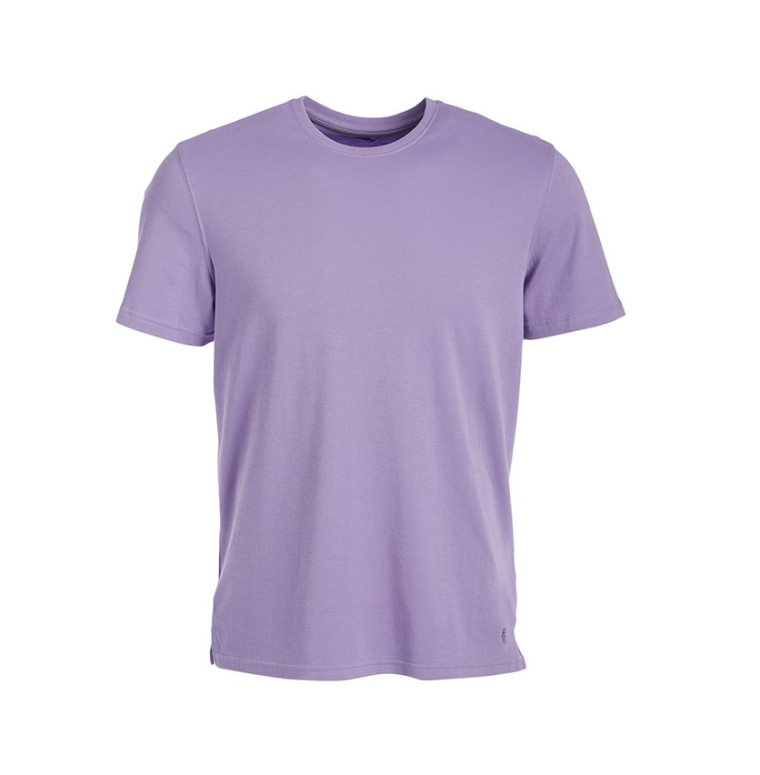 Mens Cotton Crew Neck T-Shirt, Chalk Violet