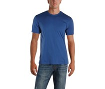 IKE By Ike Behar Mens Cotton Crew Neck T-Shirt, Washed Blue