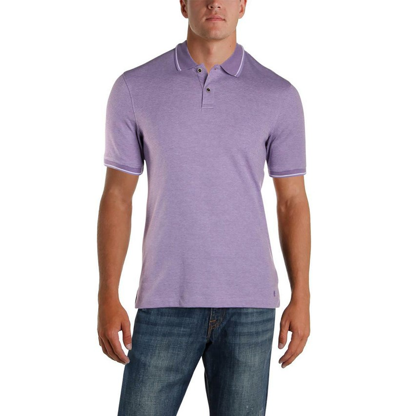 Pinstripe Polo, Purple