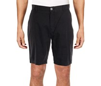 Ike Behar Men's Lightweight Twill Short, Black/Almost Black
