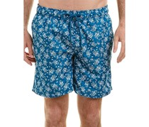 Ike Behar Paisley Swim Trunks, Teal Crest