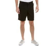Ike Behar Mens Twill Flat Front Short, Black