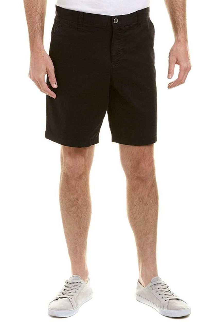 Mens Twill Flat Front Short, Black