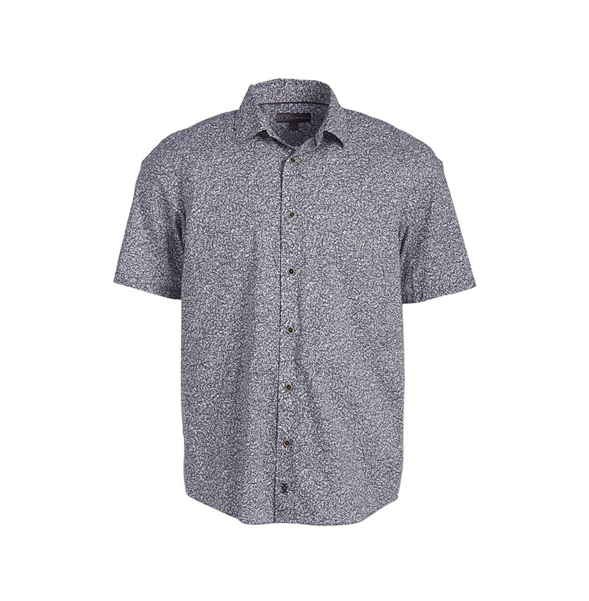 Short Sleeves Printed Shirt, Nickel Stone