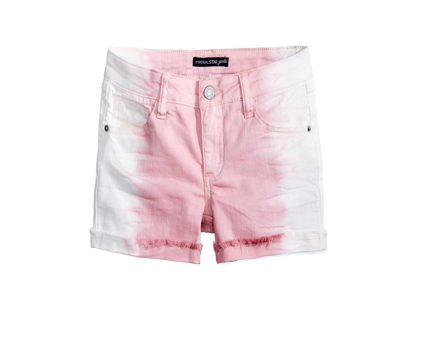 Imperial Star Ombre Adjustable Waistband Shorts, Frosted Rose