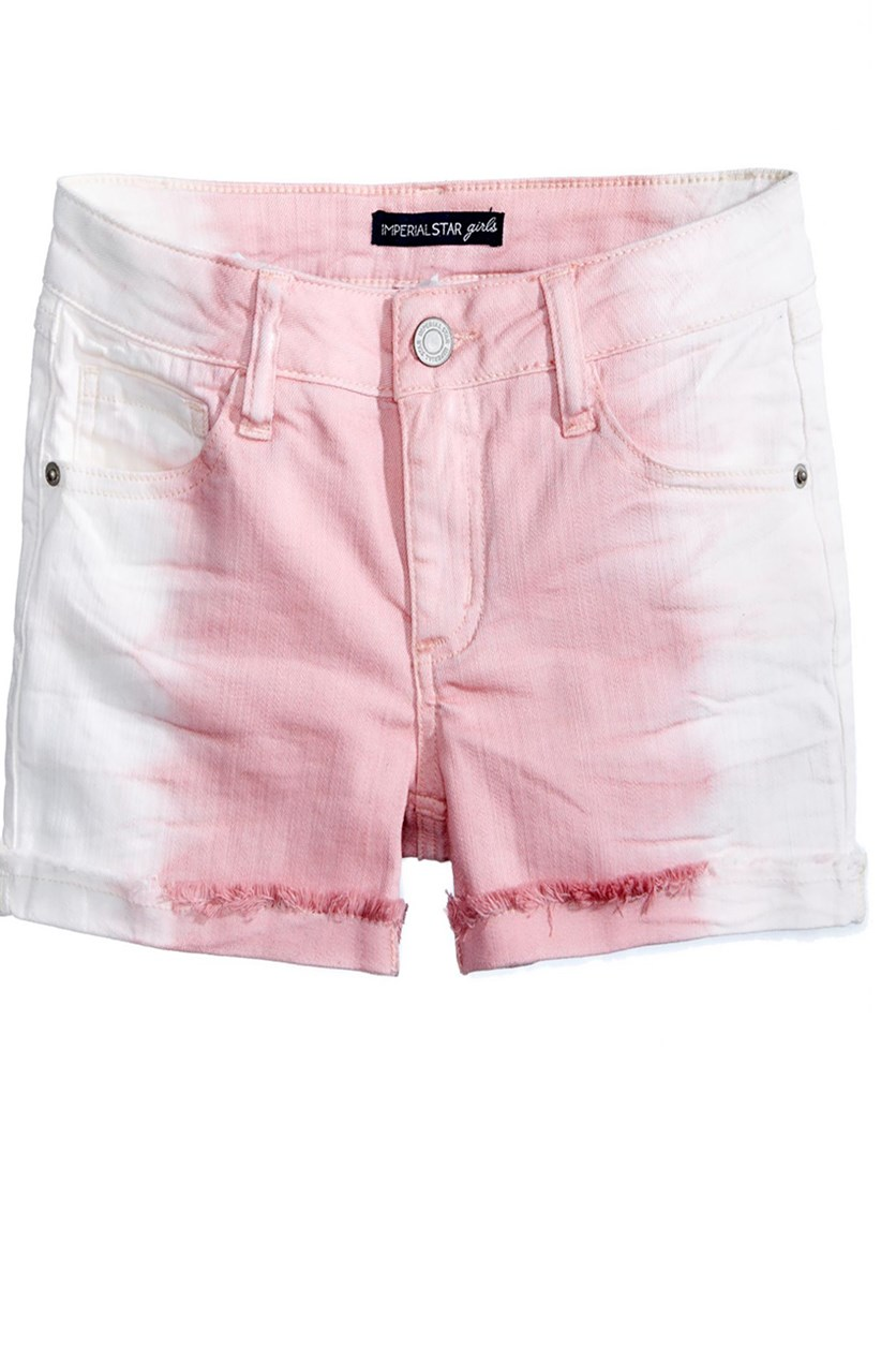 Ombre Adjustable Waistband Shorts, Frosted Rose