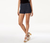 Be Bop Juniors Mid-Rise Zip Shorts, Navy