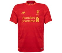 New Balance Boy's Liverpool Home Shirt, Red