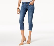 Kut from the Kloth Maggie Cropped Boyfriend Jeans, Blue