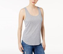 Kensie Women's Ribbed Tank Top, Heather Grey