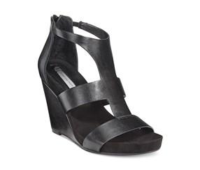 INC Women's Lilbeth Wedge Sandals, Black