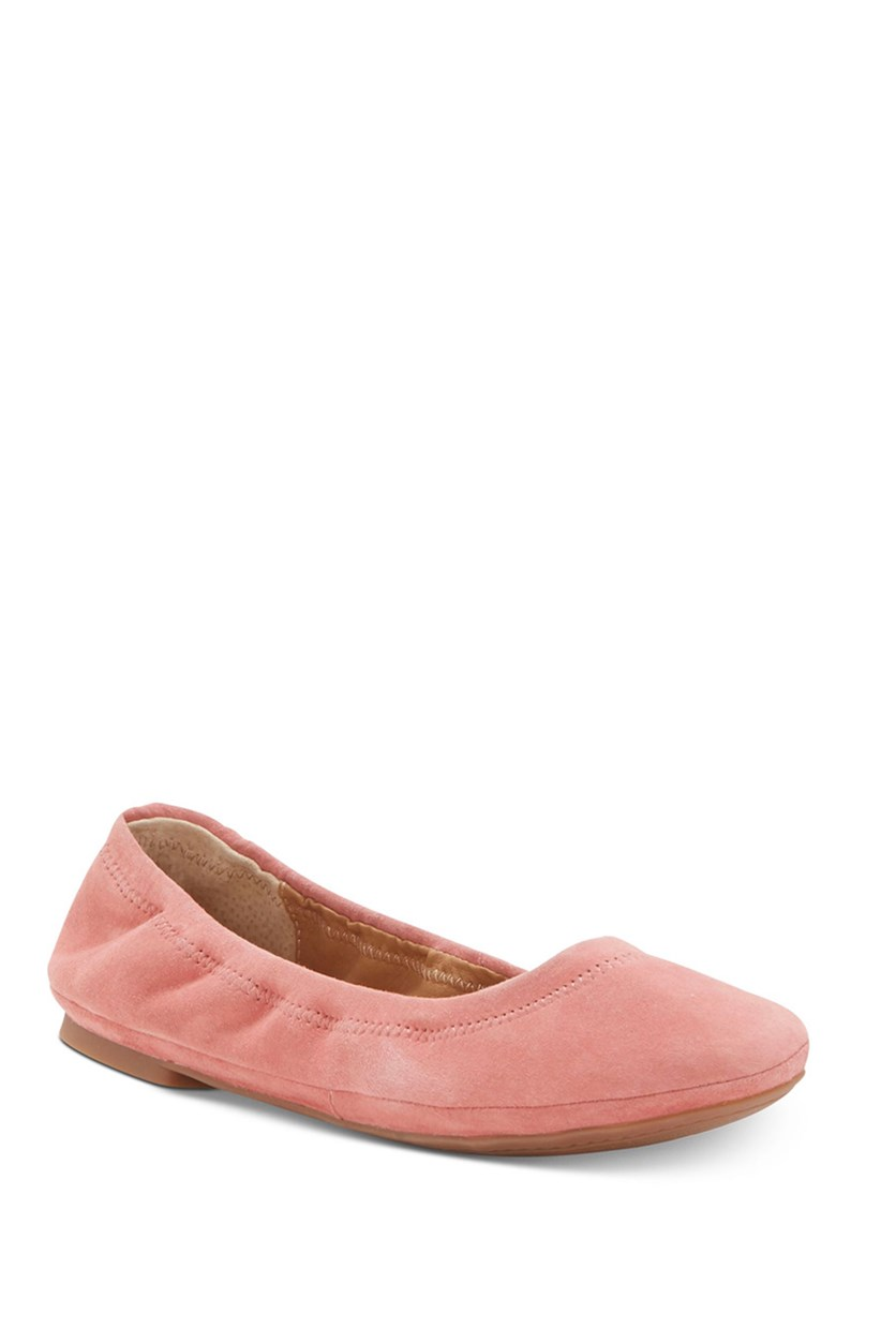 Womens Emmie Suede Flexible Ballet Flats, Canyon Rose