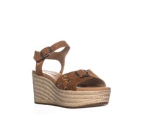 Lucky Brand Womens Naveah 2 Wedge Sandals, Peanut